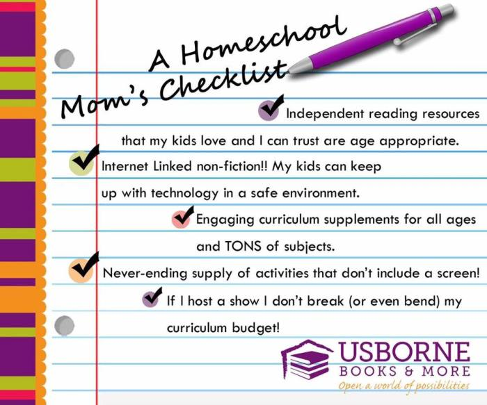homeschool mom checklist
