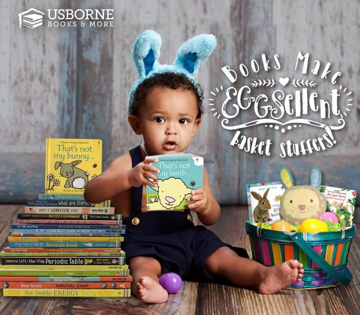 books make eggsellent basket stuffers